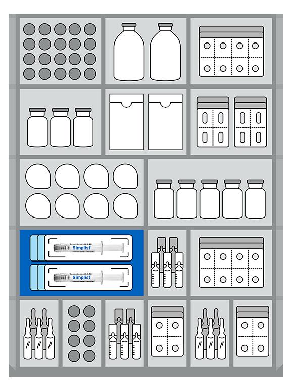 Pharmacy storage illustration