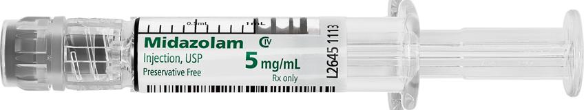 Midazolam Injection, USP, 5mg/mL, Fresenius Kabi USA