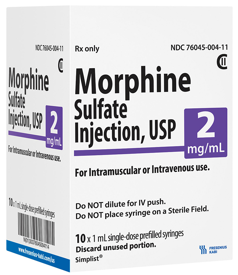 MicroVault Carton image for 2 mg per 1 mL of Morphine