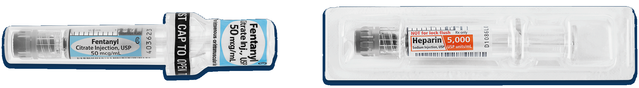 MicroVault Dilaudid 0.2 mg per 1 mL and Heparin 5,000 USP units per 1 mL image