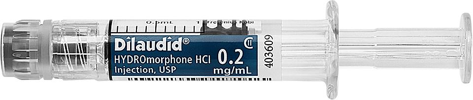 Dilaudid 0.2mg per 0.2mL Horizontal Syringe