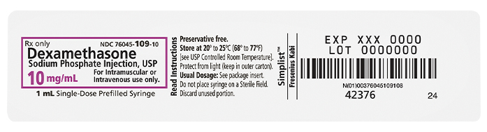 Product Label image for 10 mg per 1 mL of Dexamethasone
