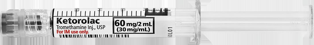 Horizontal Syringe image for 60 mg per 2 mL of Keterolac