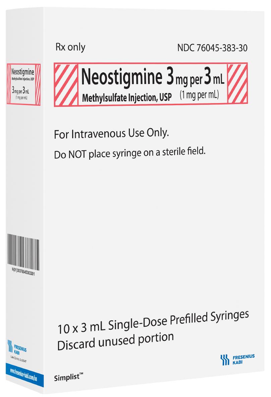 Volume Carton image for 3 mg per 3 mL of Neostigmine