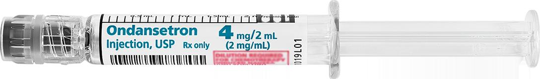 Horizontal Syringe image for 4 mg per 2 mL of Ondansetron