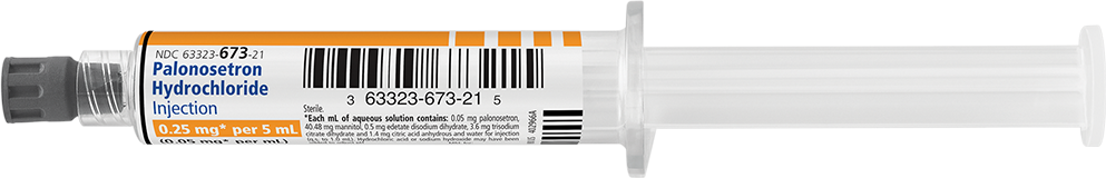 Horizontal Syringe image for 0.25 mg per 5 mL of Palonosetron