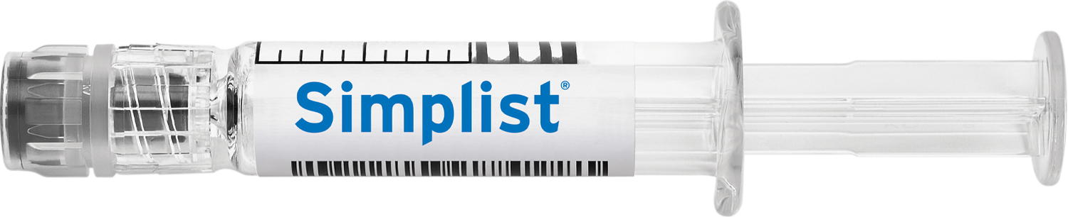 Simplist ready-to-administer prefilled syringe by Fresenius Kabi